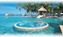isla mauricio luna de miel: hotel la pirogue resort & spa (beach pavilion) (pc)